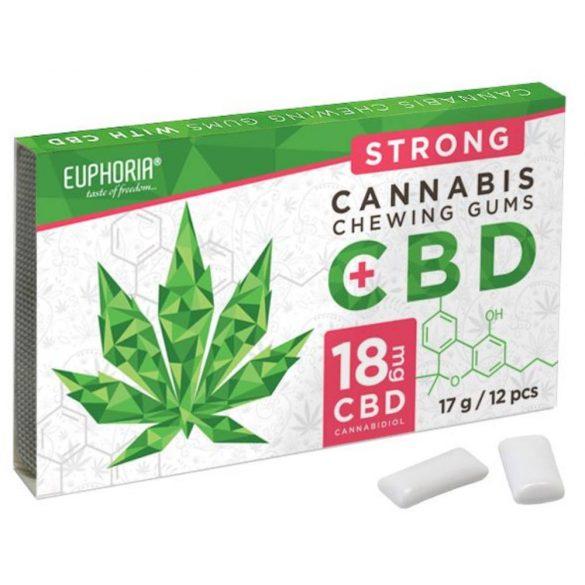 Euphoria CBD tartalmú kannabiszos rágógumi strong 17g