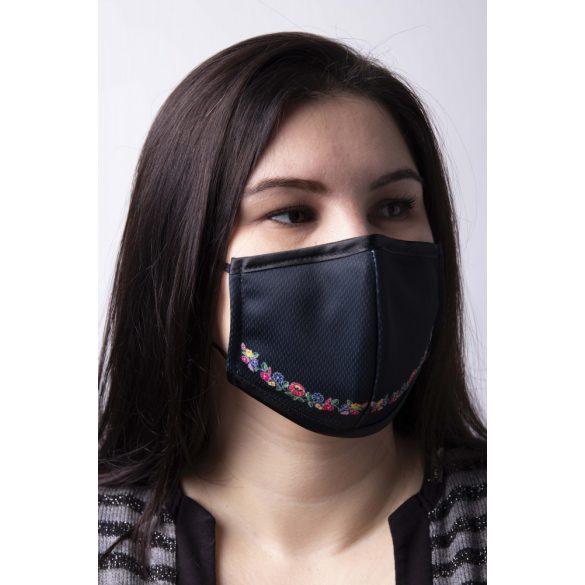 Fekete Kalocsai arcmaszk