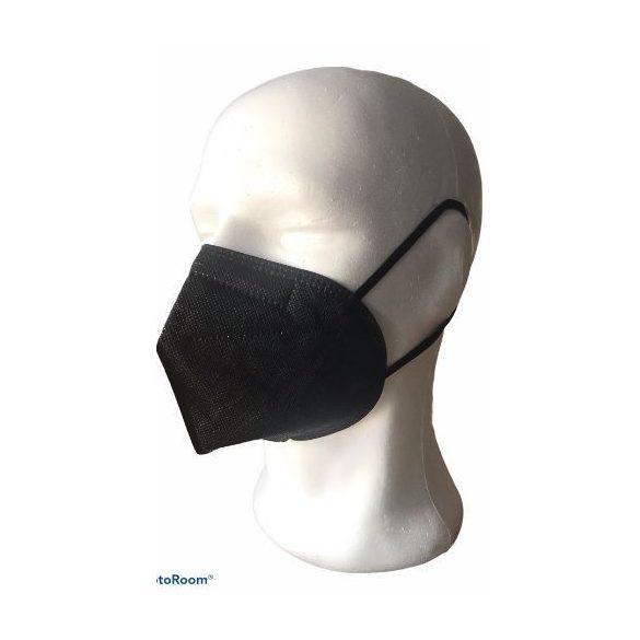 KN95/ FFP2 maszk (fekete) - 1 db