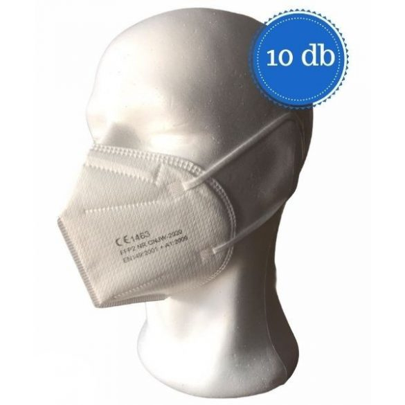 FFP2 szelep nélküli maszk (fehér) - 10 db (350 HUF/db)