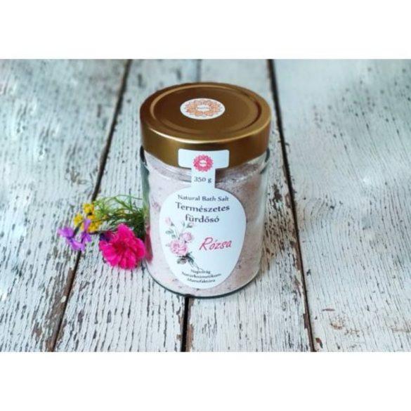 Napvirág Parajdi Fürdősó organikus geránium illóolajjal és rózsaszirmokkal 350g