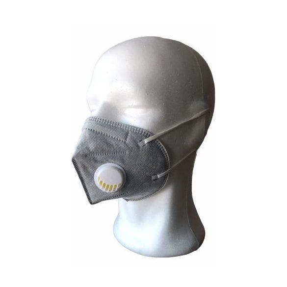 KN95 (FFP2) szelepes maszk (szürke)